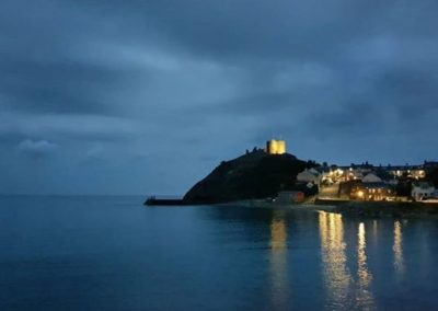 View of Criccieth Castle from The Caerwylan, Criccieth, North Wales