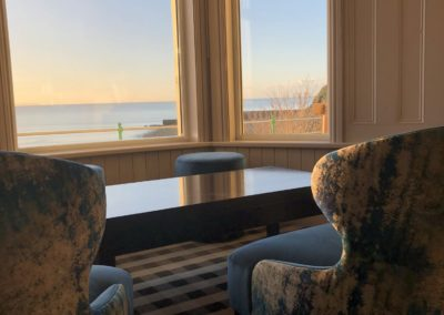 Lounge seaview at The Caerwylan, Criccieth, North Wales