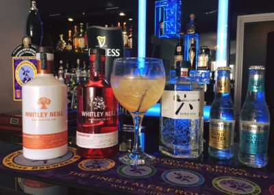 Bar - Large selections of gin available,